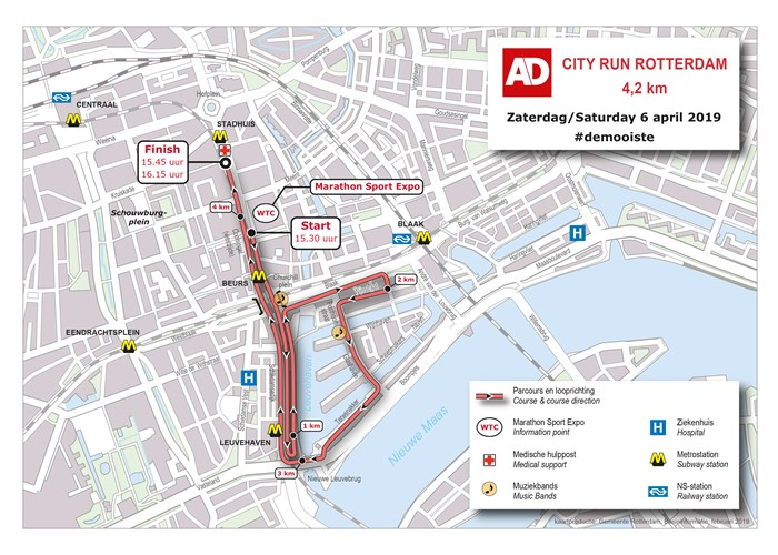 Marathon Subway Map.Courses Nn Marathon Rotterdam